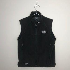 The North Face windwall black fleece full zip vest